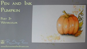 Pen and Ink Pumpkin Lesson 3 www.FaithworksArtStudio.com