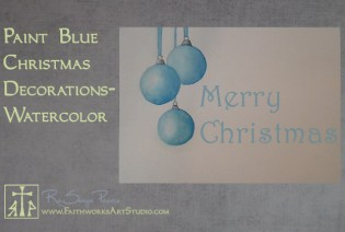 Blue Christmas decorations -Fast & Free www.FaithworksArtStudio.com