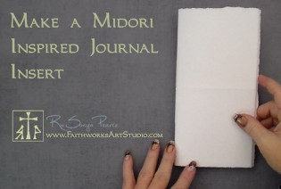 Free Video- How to make a Midori Inspired Notebook Insert