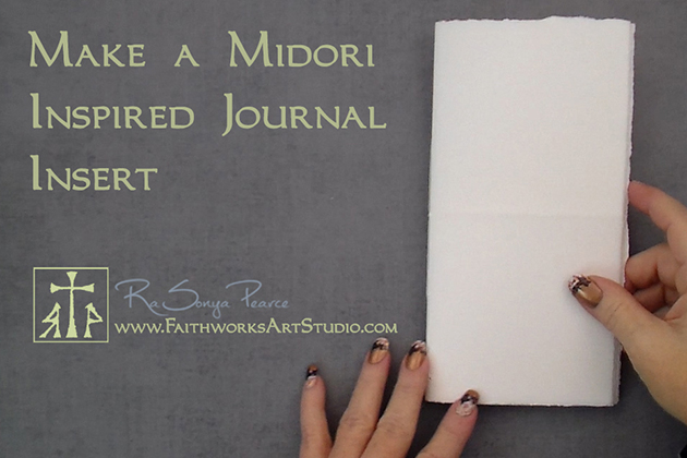 Make a Midori Inspired Notebook Insert