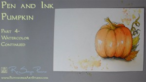 Pen and Ink Pumpkin Lesson 4 www.FaithworksArtStudio.com