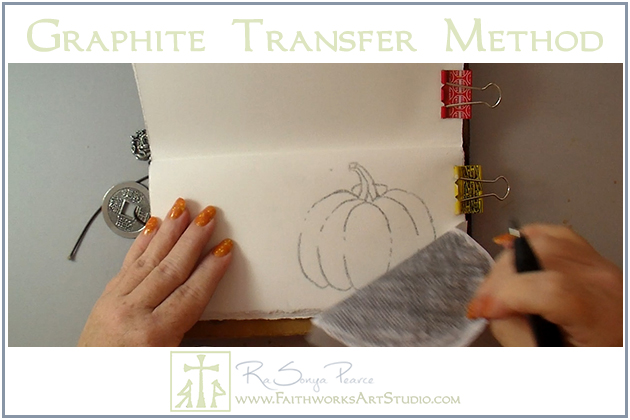 Graphite Transfer Method-www.FaithworksArtStudio.com